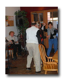 songwriter night at Cafe Aldea